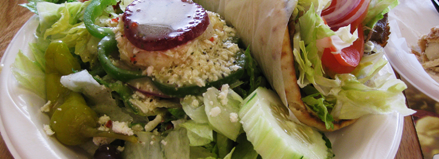 gyro pita and salad